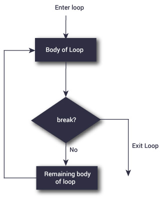 Flowchart of repeat loop in R programming